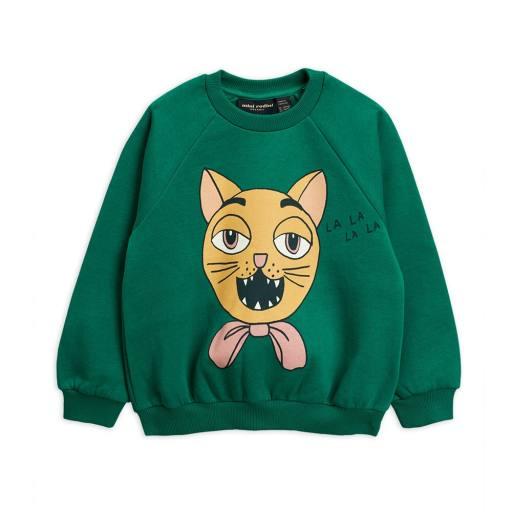 "Mini Rodini -Pullover ''Cat Choir"", green"