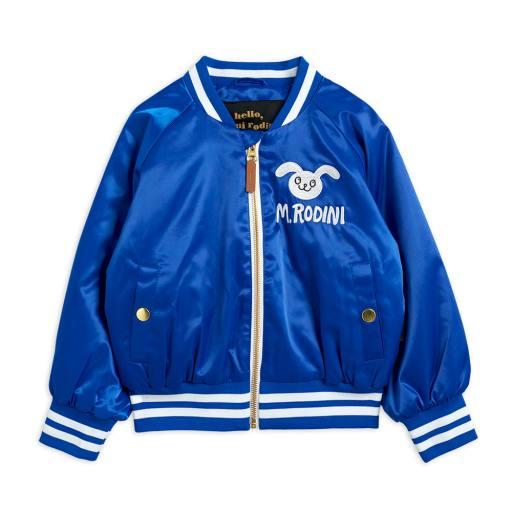 "Mini Rodini - Jacke ""Satin Baseball Jacket"", blue"