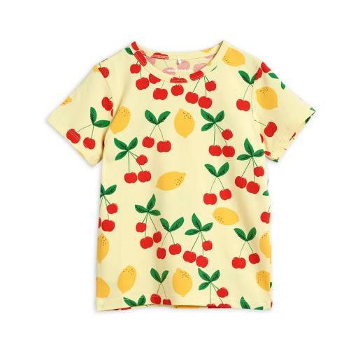 """Mini Rodini -T-Shirt """"Cherry Lemonade tee'', yellow"""