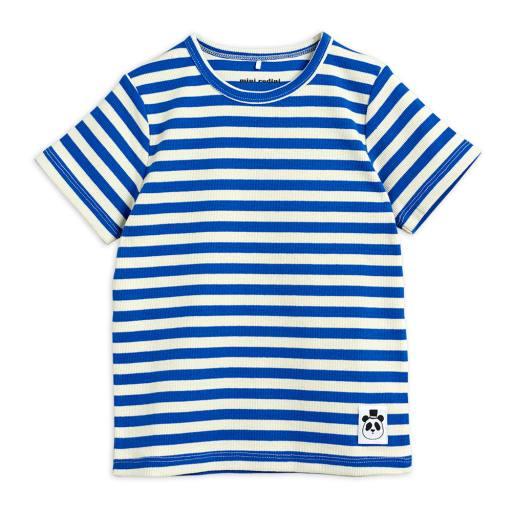 Mini Rodini - T-Shirt ''Stripe rib'', blue