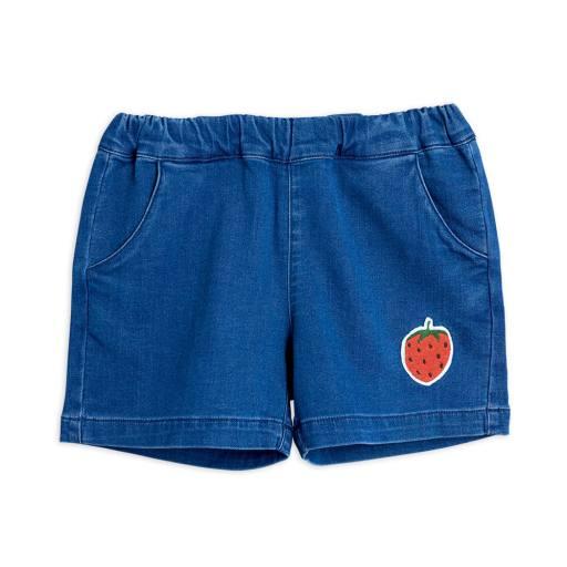 """Mini Rodini - Shorts """"Denim Strawberry"""", blue"""