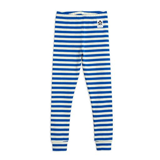 Mini Rodini - Leggings ''Stripe rib'', blue