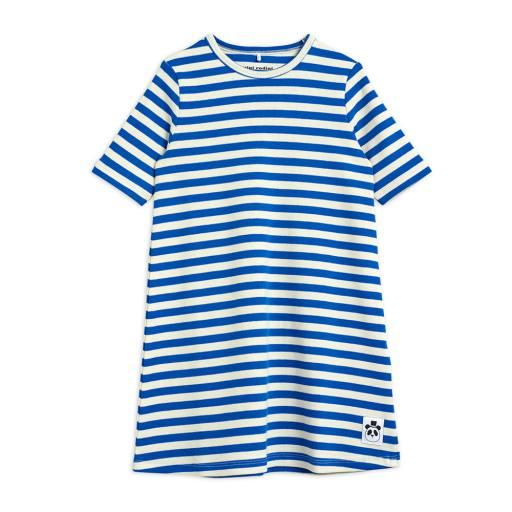 Mini Rodini - Kleid ''Stripe rib dress'', blue