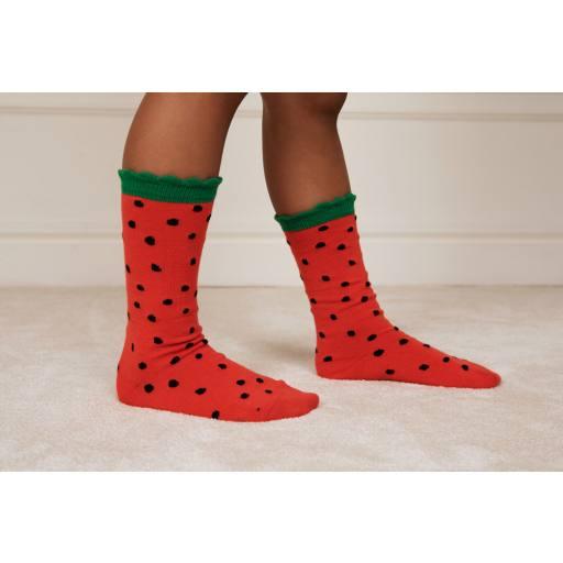 """Mini Rodini - Socken """"Strawberry scallop"""""""