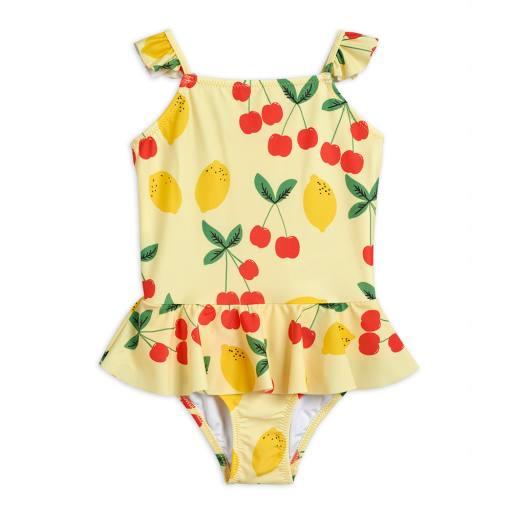 """Mini Rodini - UV-Badeanzug """"Cherry lemonade skirt swimsuit"""", yellow"""