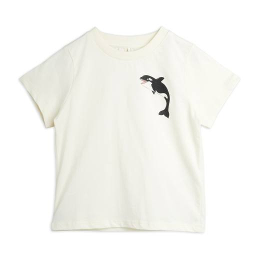 Mini Rodini - T-Shirt ''Baby Orca'', off white
