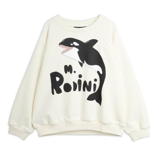 Mini Rodini - Sweatshirt ''Orca'', off white