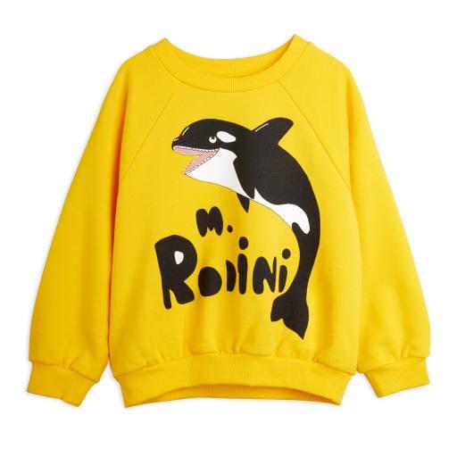 Mini Rodini - Sweatshirt ''Orca'', yellow