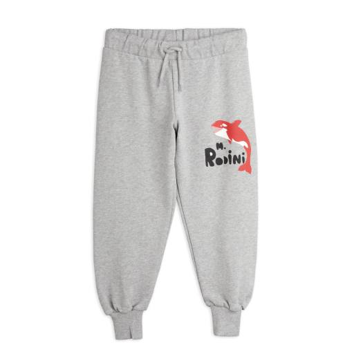 "Mini Rodini - Sweatpants ""Orca "", grey melange"