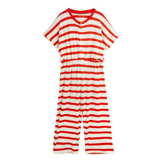 "Mini Rodini - Overall ""Stripe Onsie"", red"