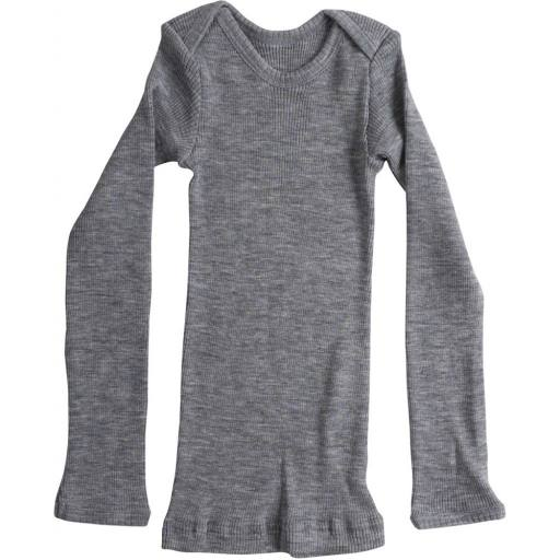 "Minimalisma - Woll-Langarmshirt ""Aspen"", grey melange"