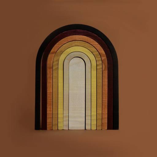 """MinMin Copenhagen - Stapelspiel """"Big Rainbow"""", earthy"""