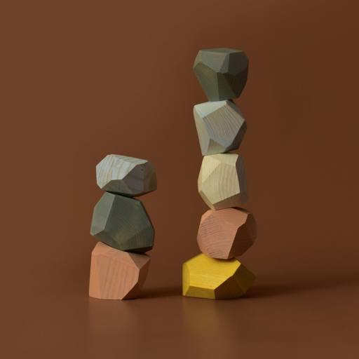 "MinMin Copenhagen - Holzspielzeug ""Balancing Stones"", pastel"