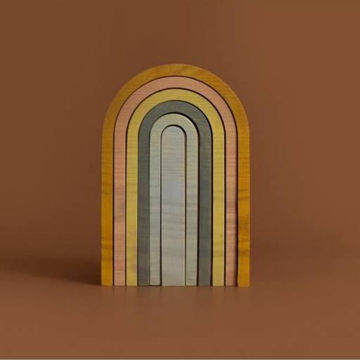 "MinMin Copenhagen - Stapelspiel ""Mini Rainbow"", pastel"
