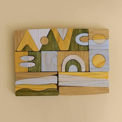 "MinMin Copenhagen - Holzspielzeug ""Puzzle Game"", multicolor"