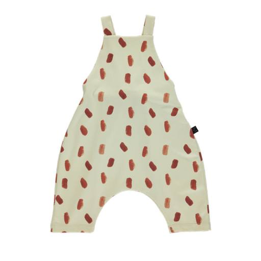 Monkind - Latzhose ''Brick Dot Short Dungarees'', white brown