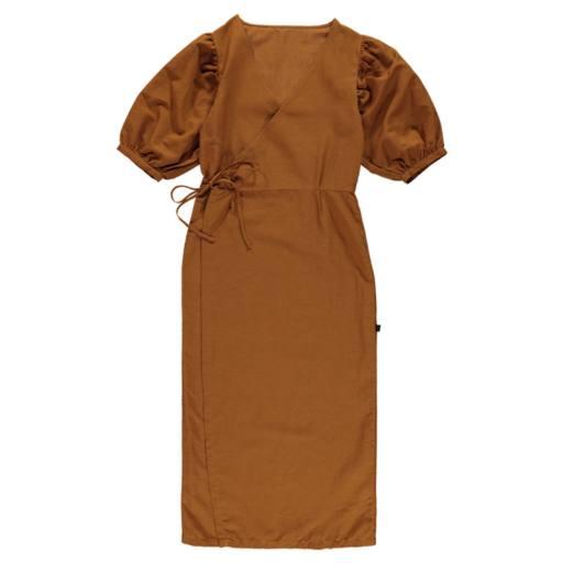 Mondkind - Wickelkleid ''Honey Wrap Dress Adult'', brown