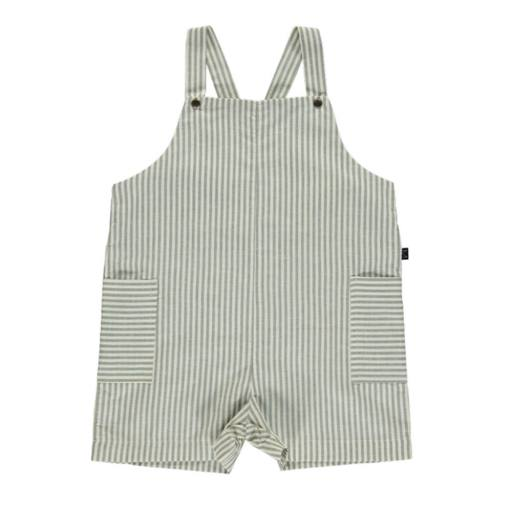 Monkind - Latzhose ''Lagoon Short Pocket Dungarees'', white/grey
