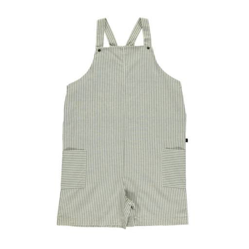 Monkind - Latzshose ''Lagoon Short Pocket Dungarees Adult'', white/grey