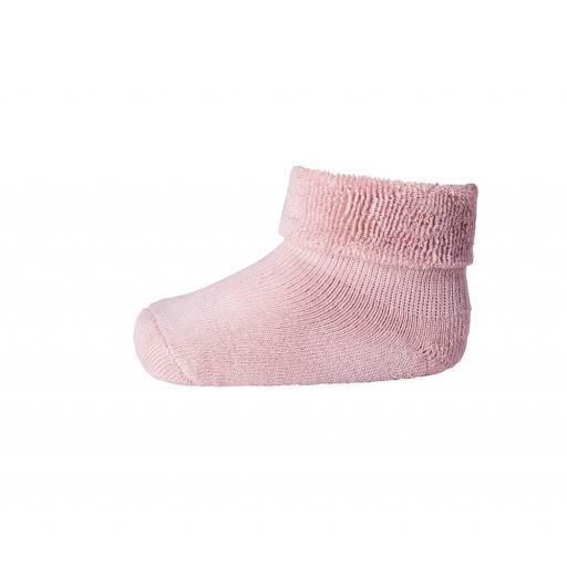 """MP Denmark -Socken """"Ankle Plain Terry"""" rose grey"""
