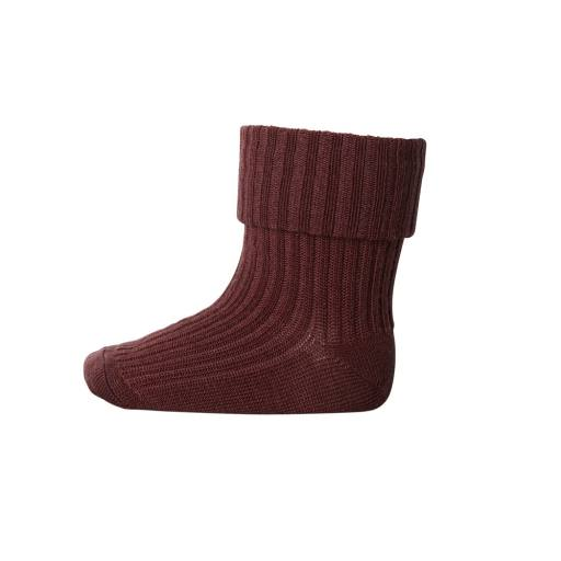 "MP Denmark -Socken ""Rib Wool Baby Socks"", maroon"