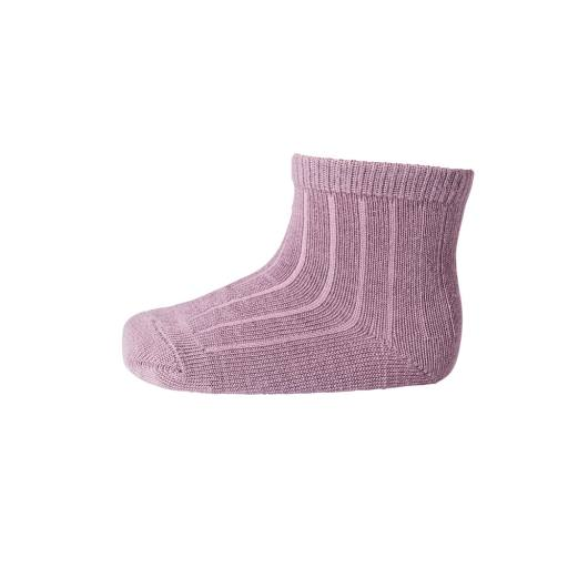 "MP Denmark - Socken ""Ankle Wool Rib"" grape shake"