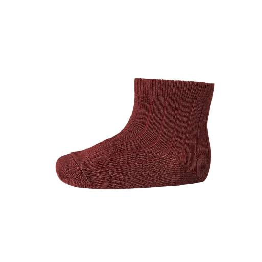 "MP Denmark - Socken ""Ankle Wool Rib"" windsor red"