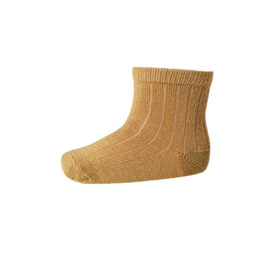 "MP Denmark - Socken ""Ankle Wool Rib"" mustard"
