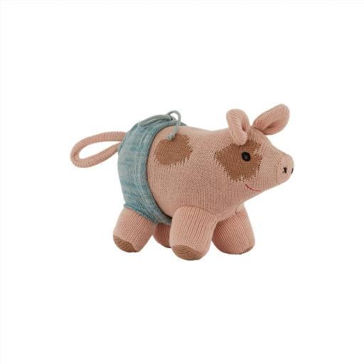 "Oyoy - Kuscheltier ""Hugo Mini Pig"", rose"