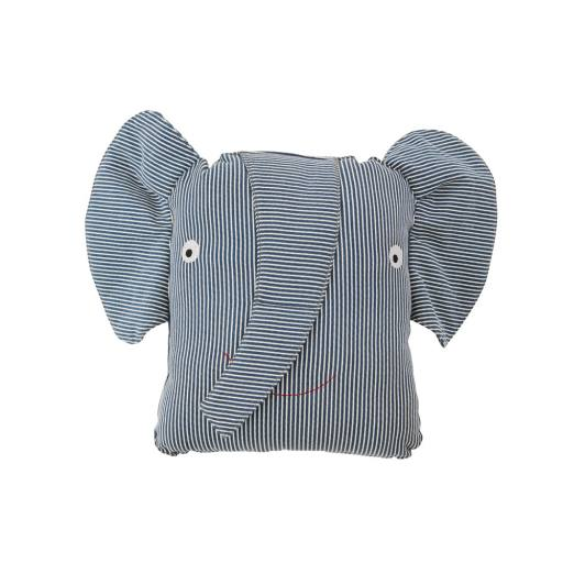 "OyOy - Kissen ""Erik Elephant Denim Cushion"", blue"