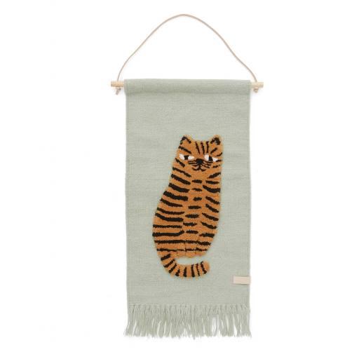 """Oyoy - Gewebter Wandteppich """"Tiger Wallhanger"""""""