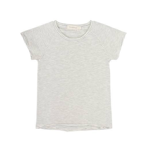 "Phil & Phae - T-Shirt ""Raglan tee stripes s/s"", vanilla stripe"