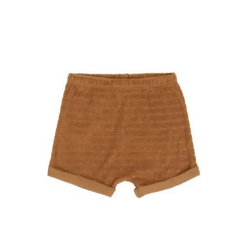 "Phil & Phae -Kurze Hose ""Striped Frotté Shorts"", antique brass"