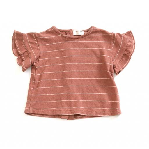 "Play up -Baby-T-Shirt ""Striped Jersey T-Shirt"", old tile"