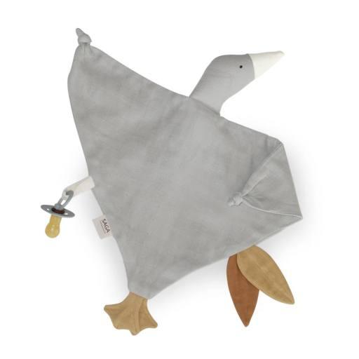 "Saga Copenhagen - Schnuffeltier ""Cuddle Cloth Bliki"", silver grey"