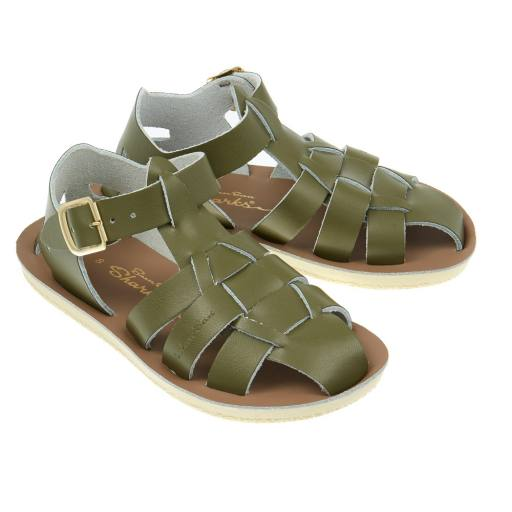 Salt Water Sandals -Sandalen ''Shark Child', olive
