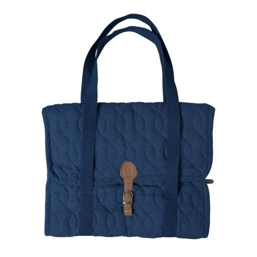 Sebra - Wickelunterlage,quilted royal blue
