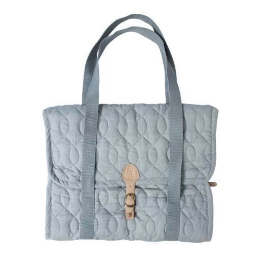 Sebra - Wickeltasche, quilted elephant grey