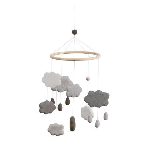 Sebra - Wolken-Filz-Mobile, grau