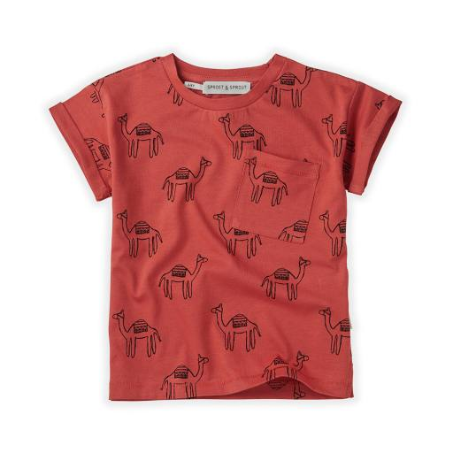 "Sproet & Sprout - T-Shirt ""Camel"", cherry red"