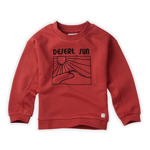 """Sproet & Sprout - Pullover """"Sweatshirt Desert Sun"""", cherry red"""