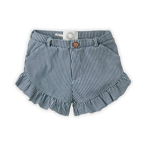 "Sproet & Sprout - Jeans-Shorts ""Ruffle "", denim stripe"