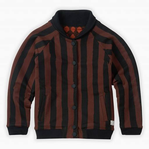 "SPROET & SPROUT -Wendejacke ""Bomber Jacket Painted Stripe"", chocola"
