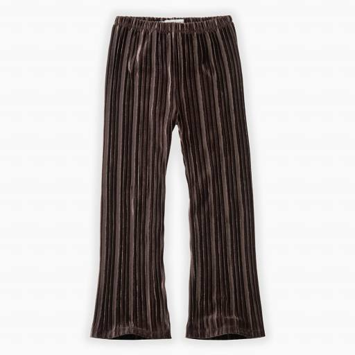 "SPROET & SPROUT -Samthose ""Pants Velvet Pleats"", chocola"