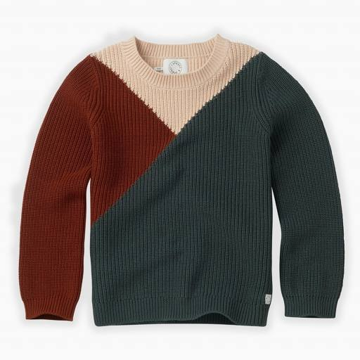 "SPROET & SPROUT - Strick-Pullover ""Sweater Colourblock"", dusty"