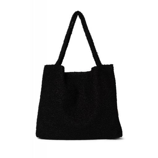 "Studio Noos - Umhängetasche ""Bouclé Mom-Bag"", black"