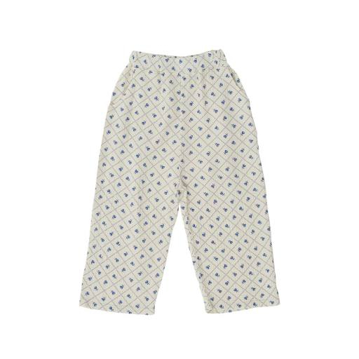The Campamento - Hose ''Checks and Flowers Trousers'', white