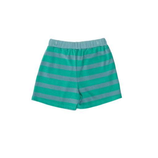 The Campamento - Shorts ''Green Stripes Short'', blue