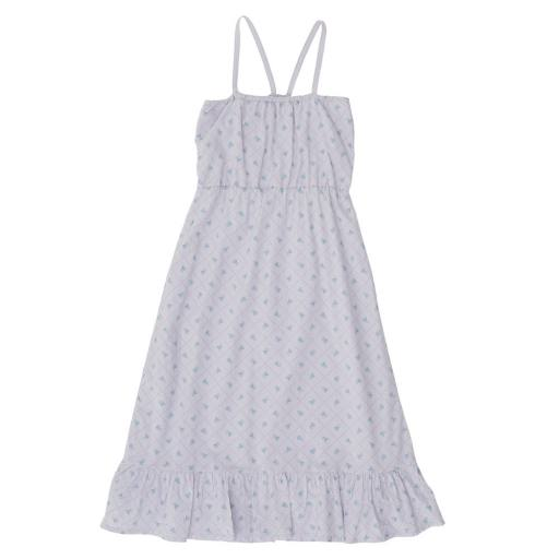 The Campamento - Kleid ''Checks and Flowers'', purple