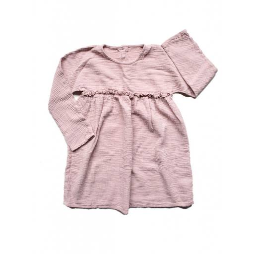 "The Simple Folk - Shirt ""The Simple Smock"", antique rose"